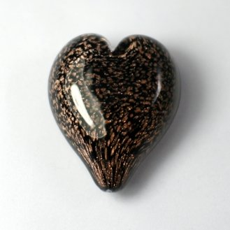 Pets Ashes into Glass: Handheld Stardust Hearts - Black