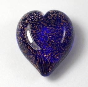Pets Ashes into Glass: Handheld Stardust Hearts - Blue