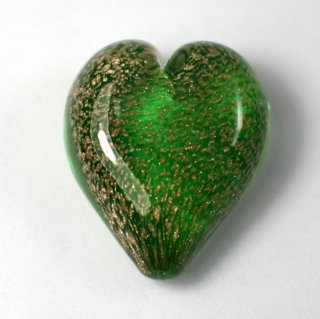 Pets Ashes into Glass: Handheld Stardust Hearts - Green