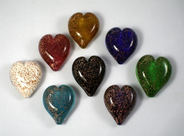 glass hearts pets ashes