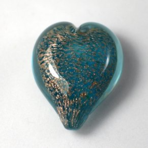 Pets Ashes into Glass: Handheld Stardust Hearts - Aqua