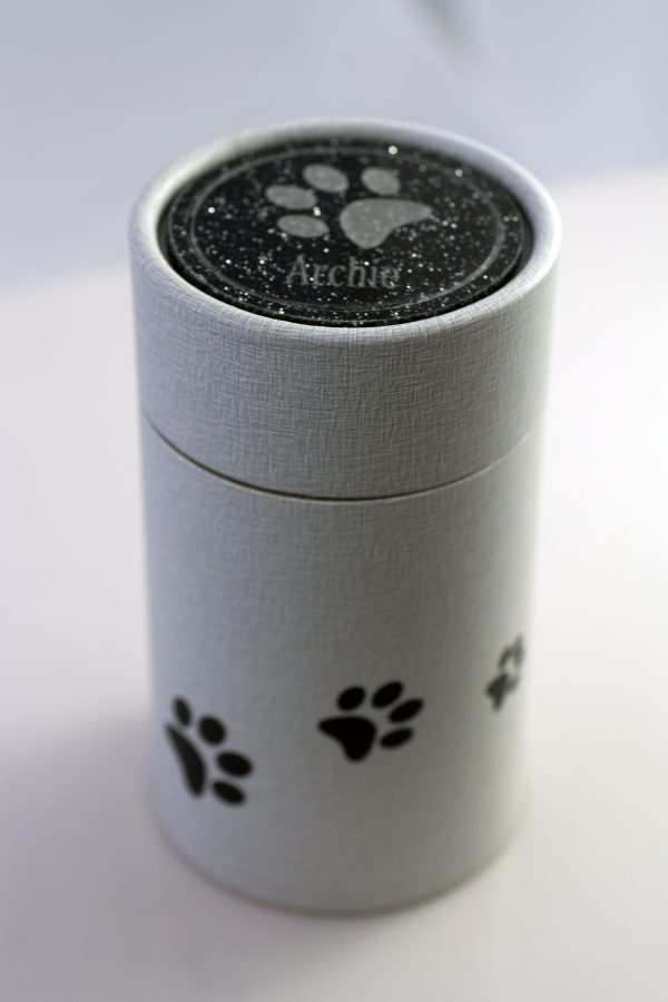 Personalised Scatter Tube Crest - Black