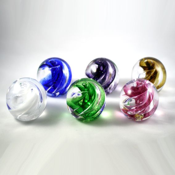 Pet Ashes in Glass Paperweight