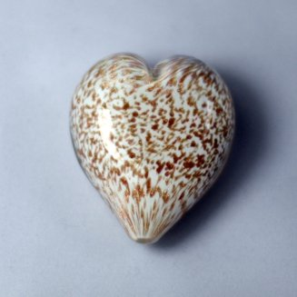 Pets Ashes into Glass: Handheld Stardust Hearts - White