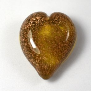 Pets Ashes into Glass: Handheld Stardust Hearts - Amber