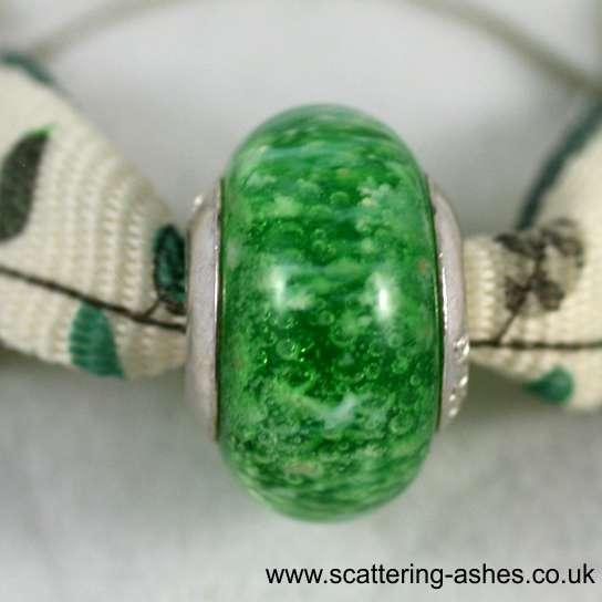 Pandora Ashes Charm Bead - Green