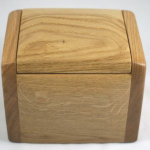 small wooden pet urn