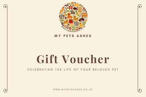 Gift Voucher for My Pets Ashes