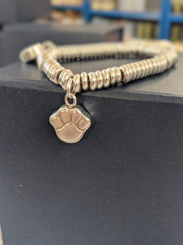 Pandora Paw Print Charm - Silver charm for pet ashes