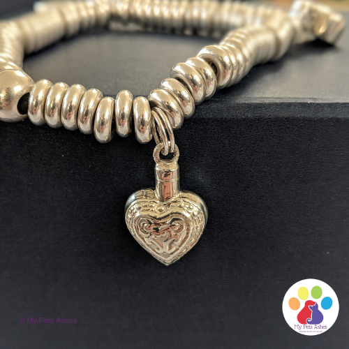 Silver Sweetie Bracelet with Engraved Heart Charm
