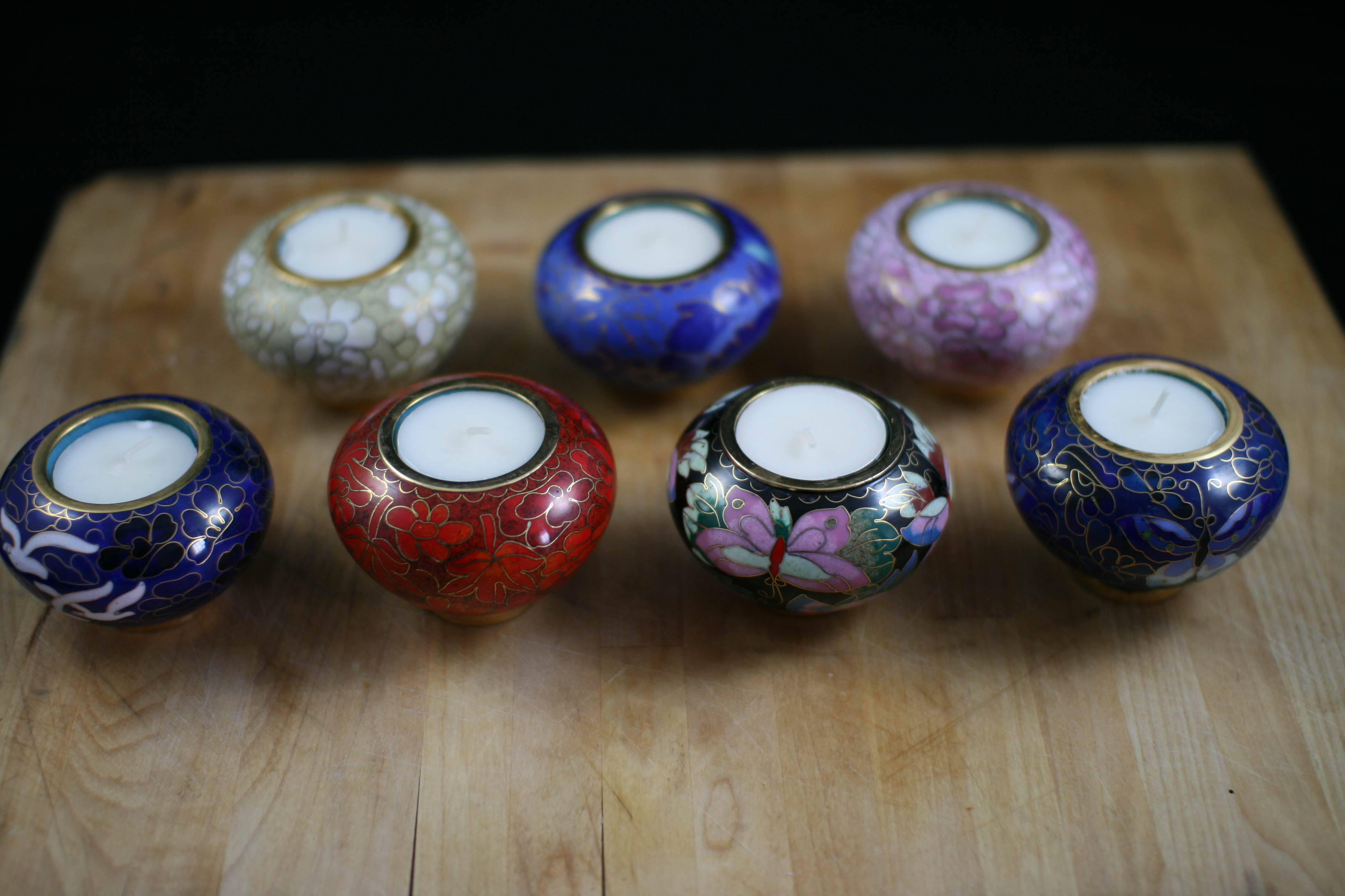 Pet Keepsake Urns Cloisonné Memorial Candle Holders