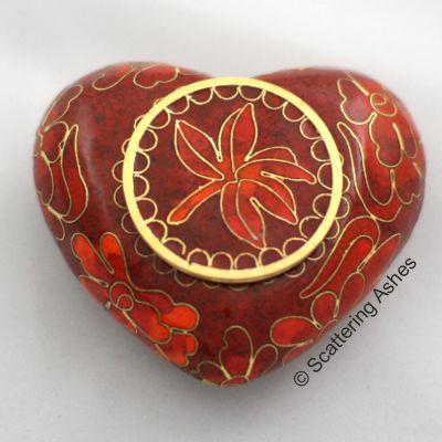 Pet Keepsake Cloisonné Hearts: Autumn Leaves