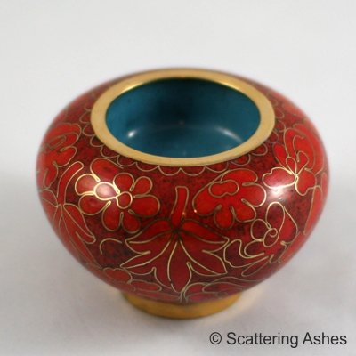 Pet Keepsake Cloisonne Candleholders Autumn Leaves
