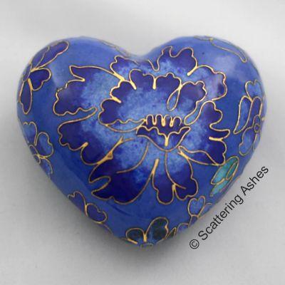 Pet Keepsake Cloisonné Hearts: Spring Blue