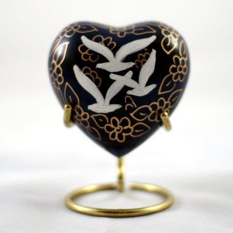 Pet Keepsake Cloisonné Hearts: Going Home