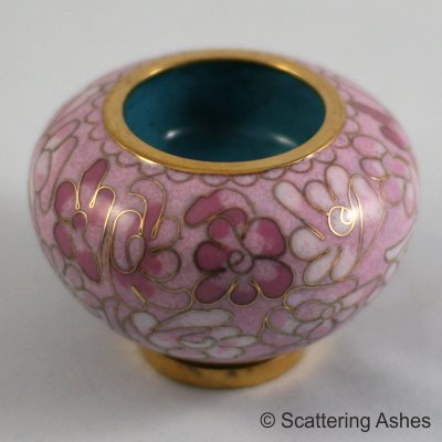 Pet Keepsake Cloisonné Candleholders Pink Bloom