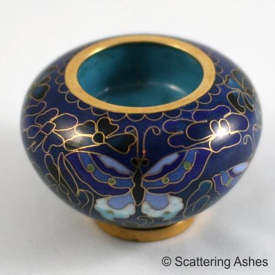 Pet Keepsake Cloisonné Candleholders Blue Butterfly