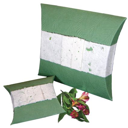 Pet Burial Pillow - Embossed Green