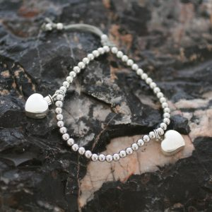 Ashes Friendship Bracelet with Heart Ashes Charms