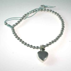 Ashes Friendship Bracelet with Heart Charm