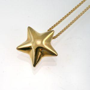 Vermeil Gold Star Pendant