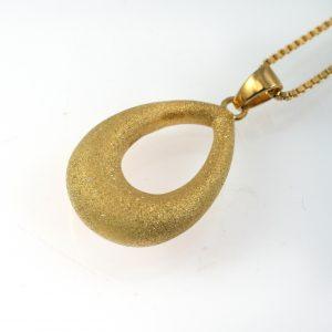 Vermeil Gold Teardrop Pendant