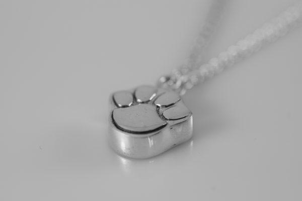 Silver Paw Pendant