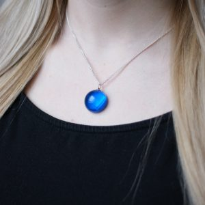Half Moon Pendant Blue