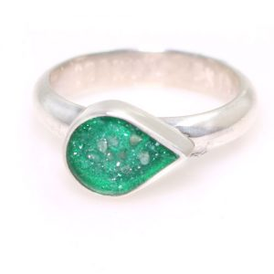 Pet Ashes Birthstone Ring