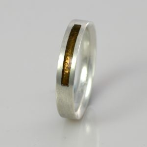 Wedding Band - Silver - Birthstone November Topaz