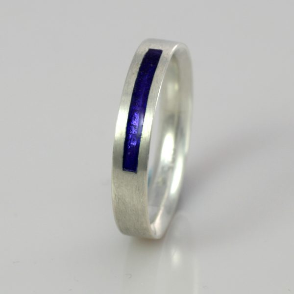 Wedding Band - Silver or Gold - Birthstone September Sapphire