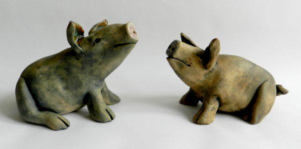 handmade pig urn