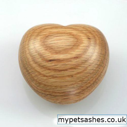 Wooden Keepsake Heart for pet ashes