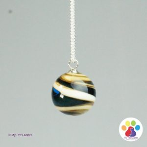 pet cremation bead pendant