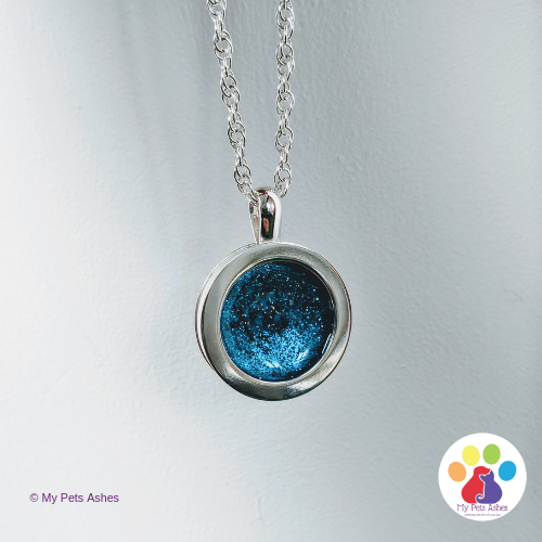memorial necklace starry night aqua