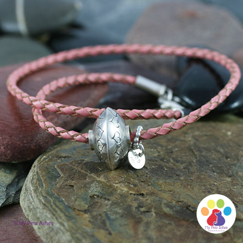 Pandora Leather Bracelet with Bead Charm