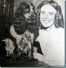 To Flush My Dog. Elizabeth Barrett Browning and her Cocker Spaniel Flush.