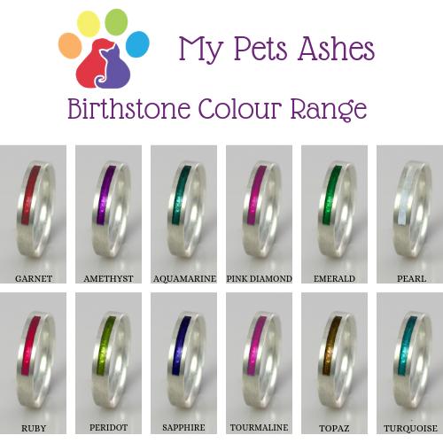 Pet Ashes Jewellery - Birthstone Colour Range