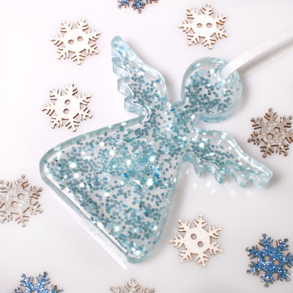 Christmas Angels - Memorial Tree Decorations - Blue