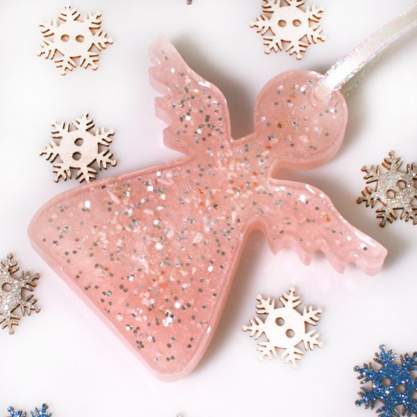 Christmas Angels - Memorial Tree Decorations - Pink