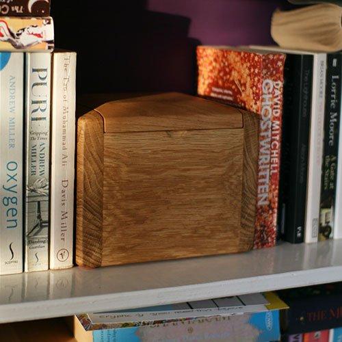 Handmade wooden pet urn