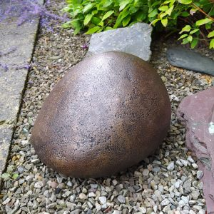 Pebble Pet Garden Urn - Bronze urn for the garden