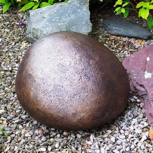 Pebble Pet Garden Urn - Bronze urn for the garden