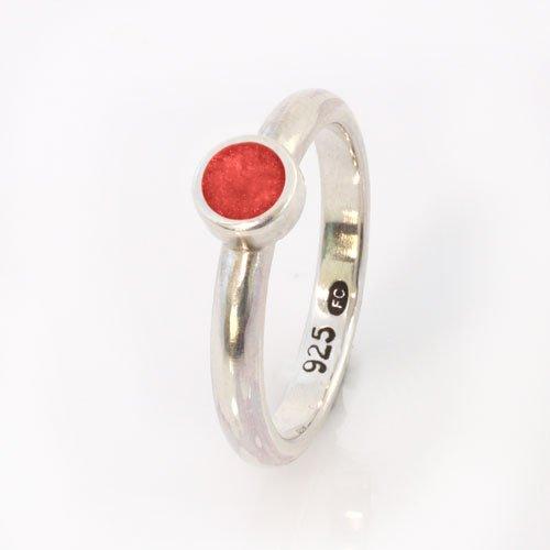 Ashes Jewellery-Elegance Ring - January Garnet