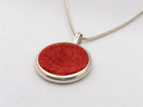 Ashes Jewellery-Missing you pendant - January Garnet