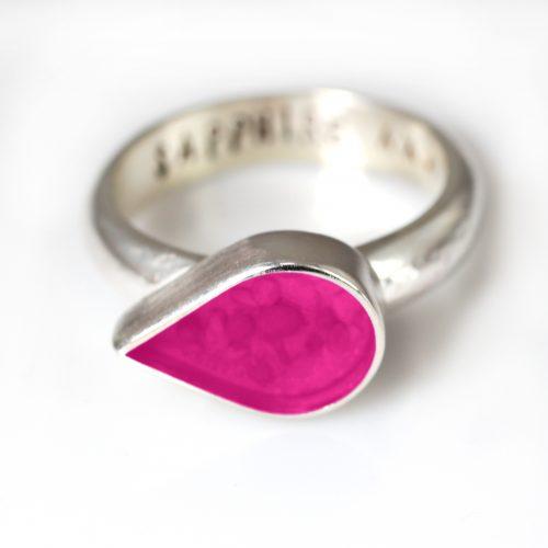 Ashes Jewellery-Teardrop Ring - Oct Tourmaline
