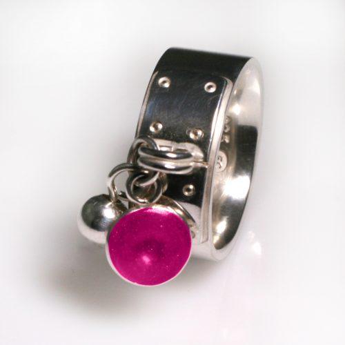 Ashes Jewellery-Tiffany Style Birthstone Ring - Oct Tourmaline