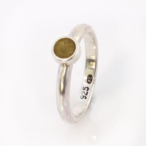 Ashes Jewellery-Elegance Ring - Nov Topaz