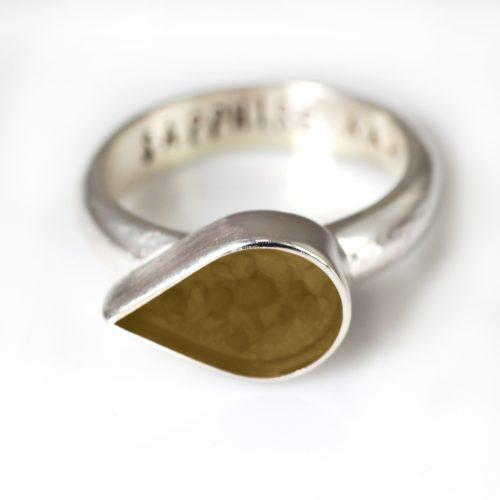 Ashes Jewellery-Teardrop Ring - Nov Topaz