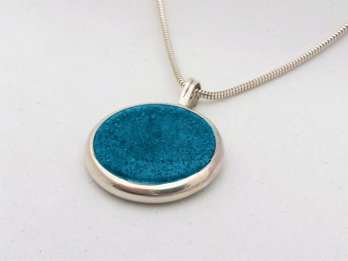 Ashes Jewellery-Missing you pendant - December Turquoise